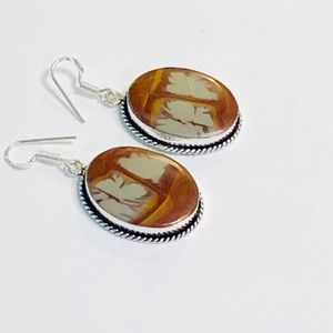 Australian Jasper .925 Sterling Silver Earrings